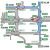 阪神高速 1号環状線中之島JCT・東船場JCTの合流形状が変更