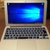 """MacBook Air 11"""" Mid 2013にBoot CampでWindows 10を導入(どうにかできた)"""
