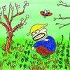 ほったらかしで草ぼうぼうのジャガイモ畑