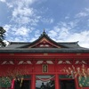 【群馬 (大洞)赤城神社】湖と青空に赤の建造物が映える(御朱印有り)