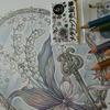 完成】100均セリアのメタリック色鉛筆のみで塗ってみました☆大橋忍のCOLORING BOOKより