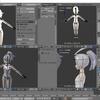 HoloLens用のオリジナルモデルを作成する その24(指関節のトポロジとウェイト)