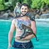 タイのモンキービーチ!ピピ島は野生の猿が頭の上に乗ってきて凄いぞっ! #MonkeyBeach