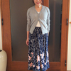 ウエストを細く見せる簡単コーデ|コンパクトなリブ編みカーディガンをどう着る?