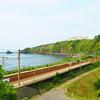 日本海の一部のような青海川駅^^…2019年信越本線