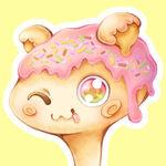 ドーナツをキャラクター化!お菓子なイラストになりました