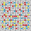 コラボ迷路:問題2-『●追い迷路』×『赤青黄迷路』