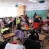 1・2年生:登校したら教室で