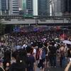 香港でのデモ(逃亡犯条例)