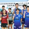 世界卓球2018ハルムスタッド大会開幕、グループリーグは日本男女で結果に差が・・・(5/3追記)
