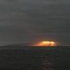 稚内の西海岸から眺める素晴らしき利尻島の夕日の日差し