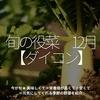 709食目「旬の役菜 12月【ダイコン】」今が旬★ 美味しくて+栄養価が高くて+安くて=元気にしてくれる季節の野菜を紹介