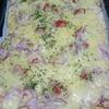 我が家の週末ランチ 手作りポテトサラダピサ より。