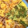 娘が作る 水菜のチヂミと白玉