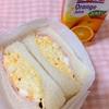 タマゴサンドはオレンジジュースと一緒に食べましょう( ノ゚∀゚︎)ノ