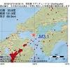 2016年10月10日 00時30分 周防灘でM3.1の地震