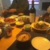 パリの友人宅で和食。