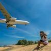 タイ国際航空はナショナルフラッグです・学校へ迎えに行く前にちょこっと飛行機撮影