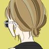 【フリーイラスト素材】サングラス×後ろ姿/女の子
