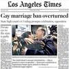 カリフォルニア州、米で同性婚を認める2番目の州に