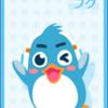 ヘッドホンを装着したペンギン