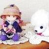 ずっと奥の棚にあった人形とワンコ!