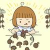 ハンガーとビニール紐で簡単にできる!おうちで干し椎茸を作ろう!