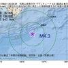 2017年08月21日 20時06分 和歌山県南方沖でM4.3の地震