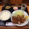 とんかつ不二「ミックス定食」(銀座駅/とんかつ/定食/500円ランチ)[お昼、なに食べよう]