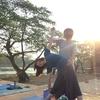 【カンボジア女子一人旅】アンコールワットから上がる朝日を浴びながら、ヨガ体験♪