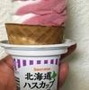 「北海道ハスカップ&バニラ」ソフト  セイコーマート
