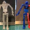 PETGフィラメント製ロボット骨格に色を塗ってみた