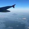 仙台行きの飛行機で