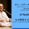 『オン・メディテーション 』2020年10月刊行!ーSriM動画(邦訳あり)公開!なぜ瞑想するのか⑤