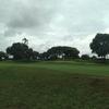 雨の中のゴルフ。