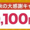 NifMoが最大20,100円キャッシュバックの「秋の大感謝キャンペーン」を11月も続けます!!