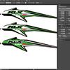 KLXシリーズのデカールデザインを作ってみた