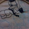 3日目 引き続き千歌っち。嫌んなる100均刺繍糸(´・ω・`)【100均ダイソーの刺繍糸で近未来ハッピーエンド/CYaRon!の刺繍をしてみる!】