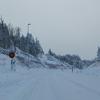 最北の幌富バイパス、冬