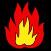 燃え盛る炎 のイラスト