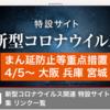 4月4日(日)コロナ感染が収まらない、大阪が酷い