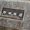 野田緑地(野田緑道)に「ななしの狸」というタヌキ像がちょこんと座っている光景。萌え~!!【大阪市福島区】
