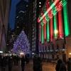 ニューヨーク・クリスマスイルミネーション散策: NYSE(The New York Stock Exchange) ニューヨーク証券取引所