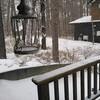 夜の間に雪・・。