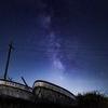 船と一緒に天の川を撮影しました!千里浜の撮影は天の川撮影に最適!