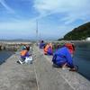 佐賀県からの民泊中学生 釣り体験