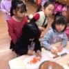 収穫感謝の会食 カレー作り