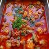 鶏肉とごぼうトマトみそ煮