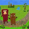 昔話絵本『貉と猿と獺』