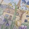 『愛らしい動物たちのシンフォニー』より見開きページの塗り絵が完成